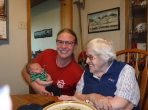 Great Oma with her nephew.